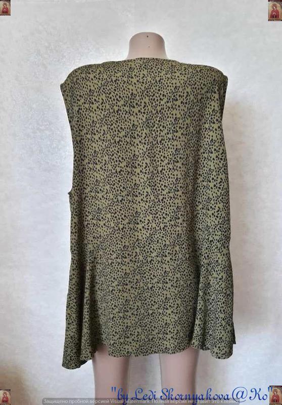 Фирменная new look шифоновая блуза в мелкий принт под леопарда... - Фото 2