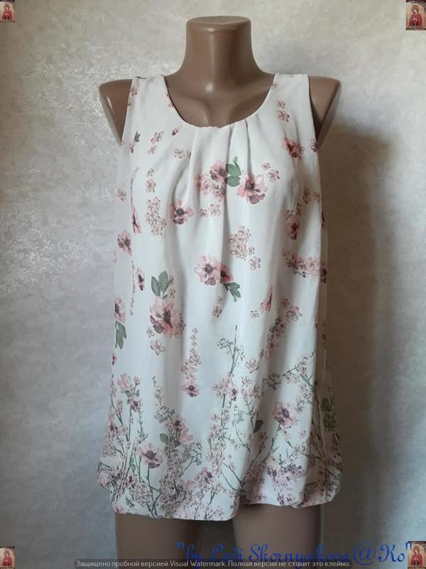 Красивая летняя блуза в цветочный прин с кружевной спинкой, ра...