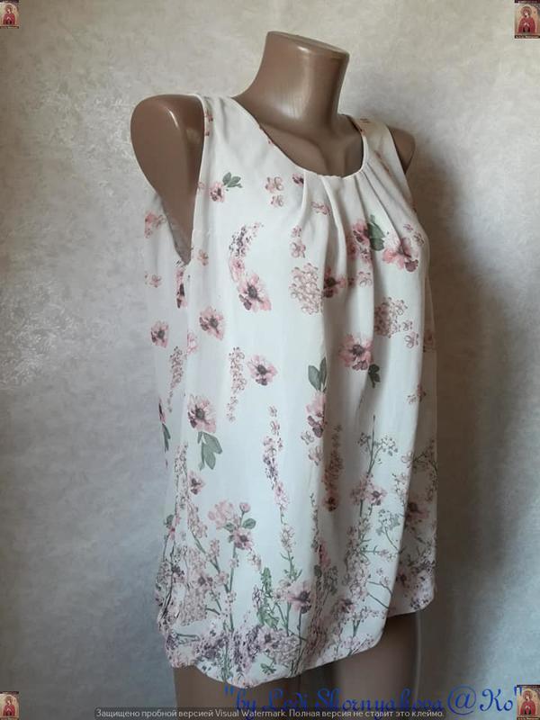 Красивая летняя блуза в цветочный прин с кружевной спинкой, ра... - Фото 5
