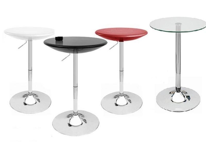 Барный стол регулируемый АМИРА, белый, черный