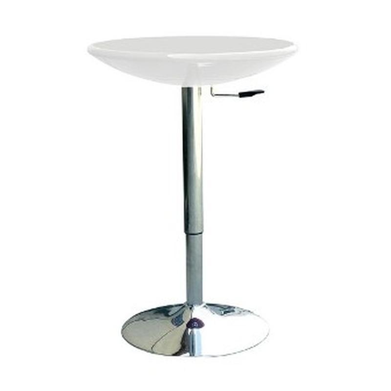 Барный стол регулируемый АМИРА, белый, черный - Фото 2