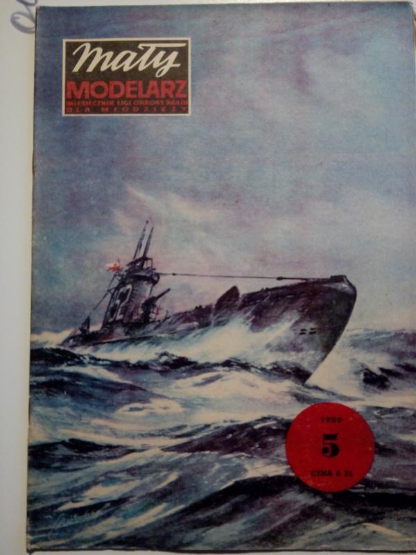 Модель лодка корабль журнал Modelarz №5 1980 р.