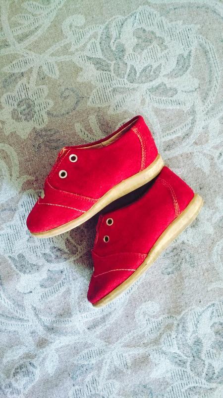 Ботинки туфли замш детские - Фото 2
