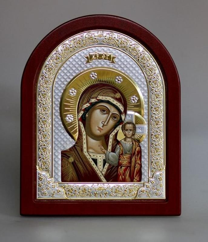Икона в серебряном окладе (Греция)