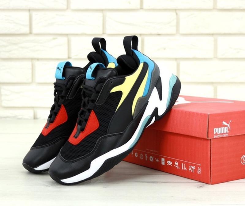 Стильные, модные кроссовки пума puma thunder spectra black blue.