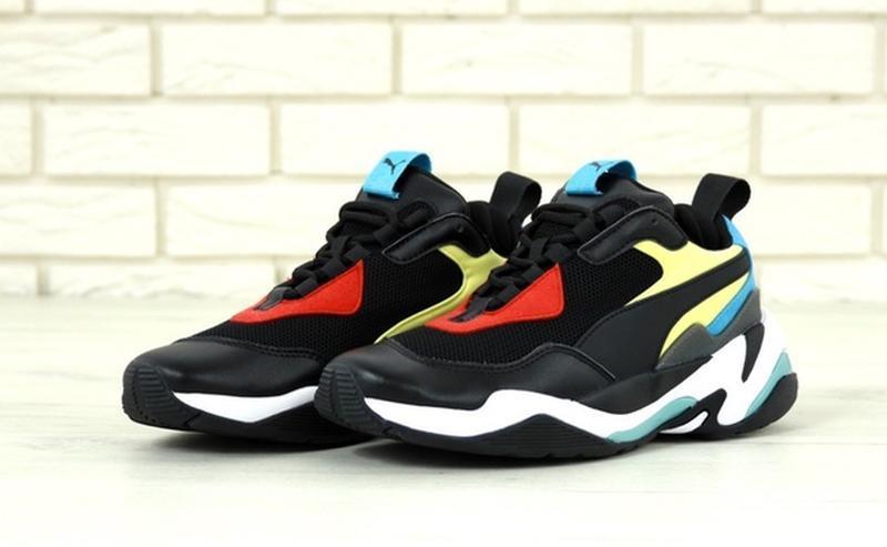 Стильные, модные кроссовки пума puma thunder spectra black blue. - Фото 2