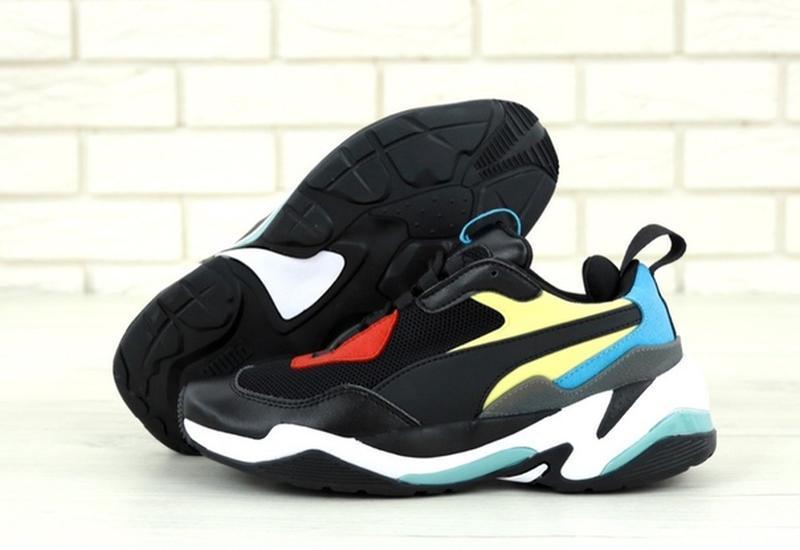 Стильные, модные кроссовки пума puma thunder spectra black blue. - Фото 4