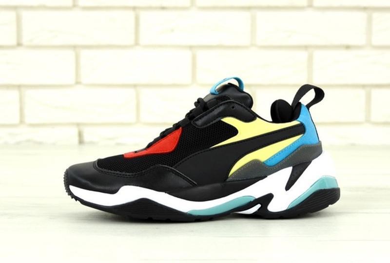 Стильные, модные кроссовки пума puma thunder spectra black blue. - Фото 5