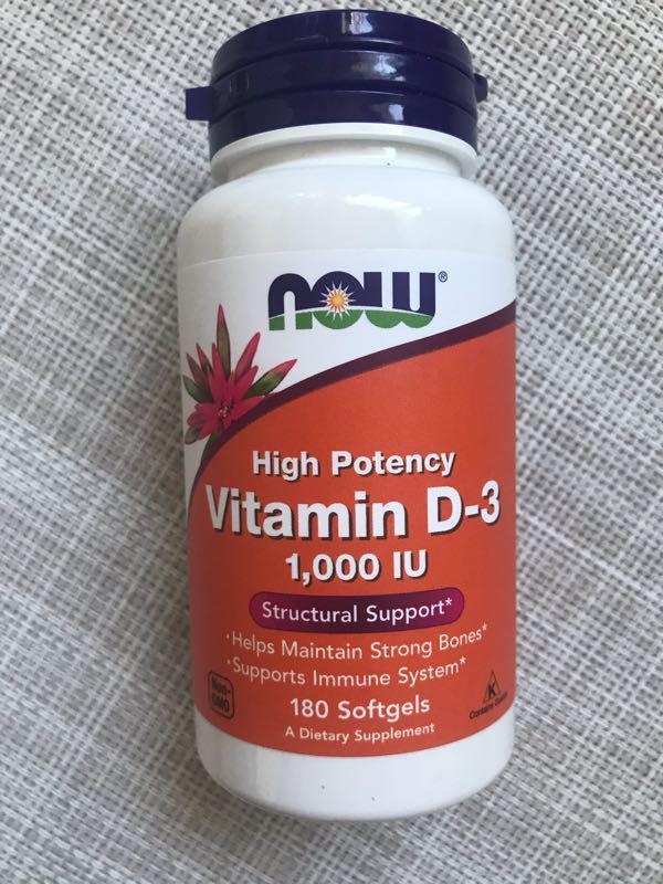 Now Foods , Витамин D-3 , D3 , Д3 1000 me , 180 шт, Д3 now
