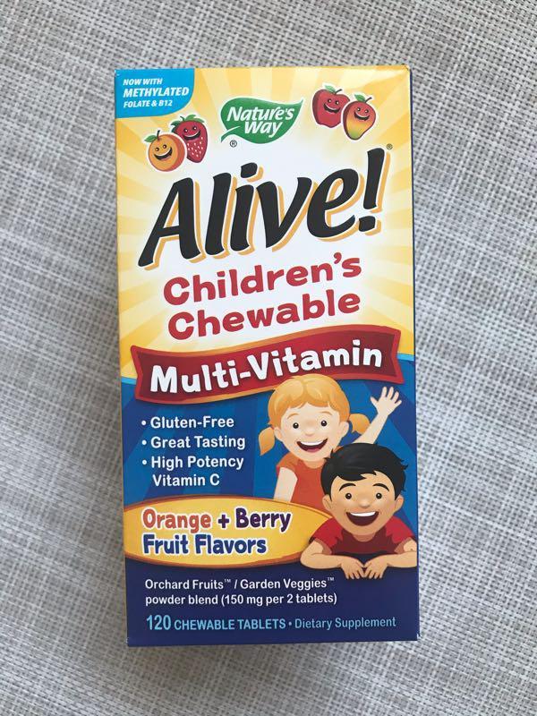 Alive , Мультивитамины для детей , витамины для детей , 120 шт