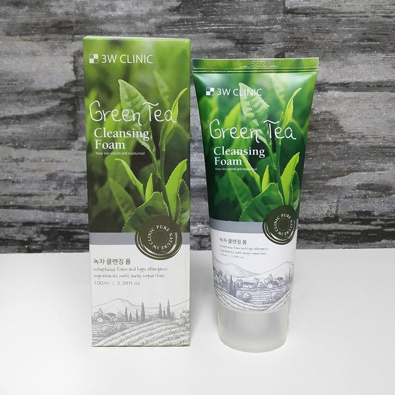 Очищающая пенка для умывания 3w clinic green tea cleansing foam