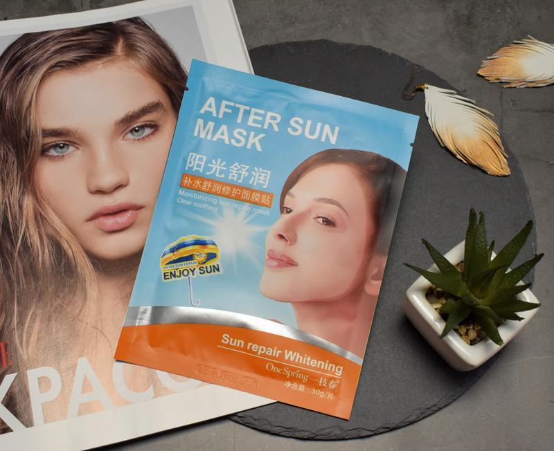 Восстанавливающая тканевая маска для лица one spring после заг...
