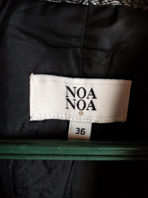 Свободный шерстяной пиджак жакет блейзер в елочку noa noa - Фото 4