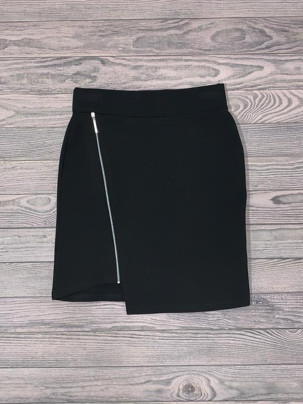 Черная трикотажная юбка для девочки 10-14 лет.