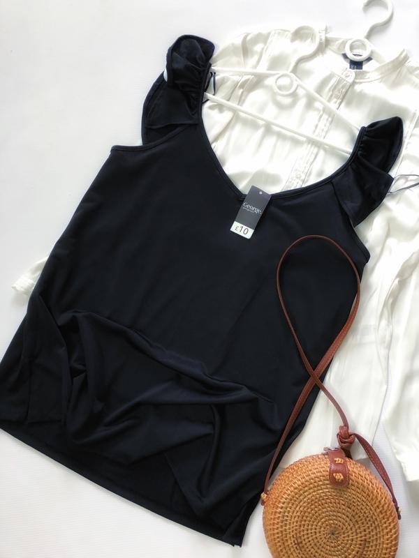 Шыкарная чёрная майка (блуза) george