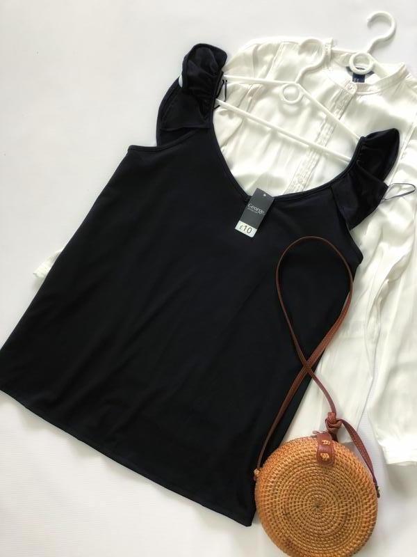 Шыкарная чёрная майка (блуза) george - Фото 4