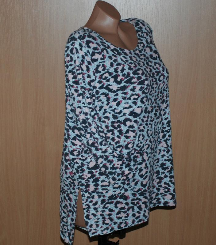Блуза принтованая бренда marks & spencer /рукав 3/4/ - Фото 2