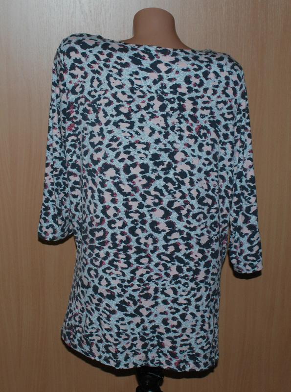 Блуза принтованая бренда marks & spencer /рукав 3/4/ - Фото 4