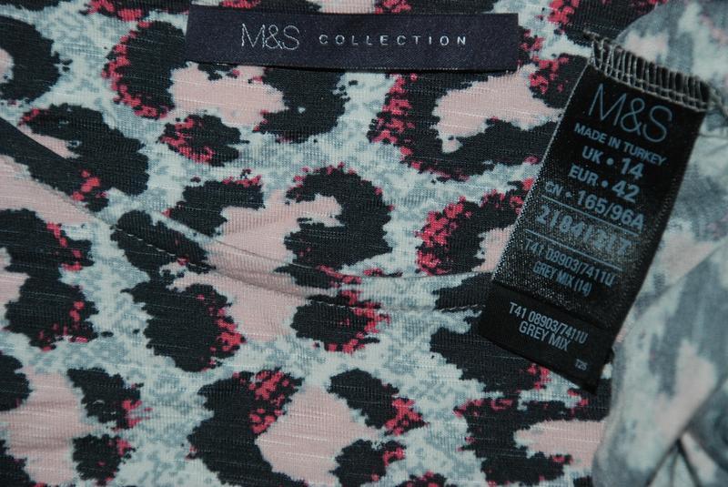 Блуза принтованая бренда marks & spencer /рукав 3/4/ - Фото 5