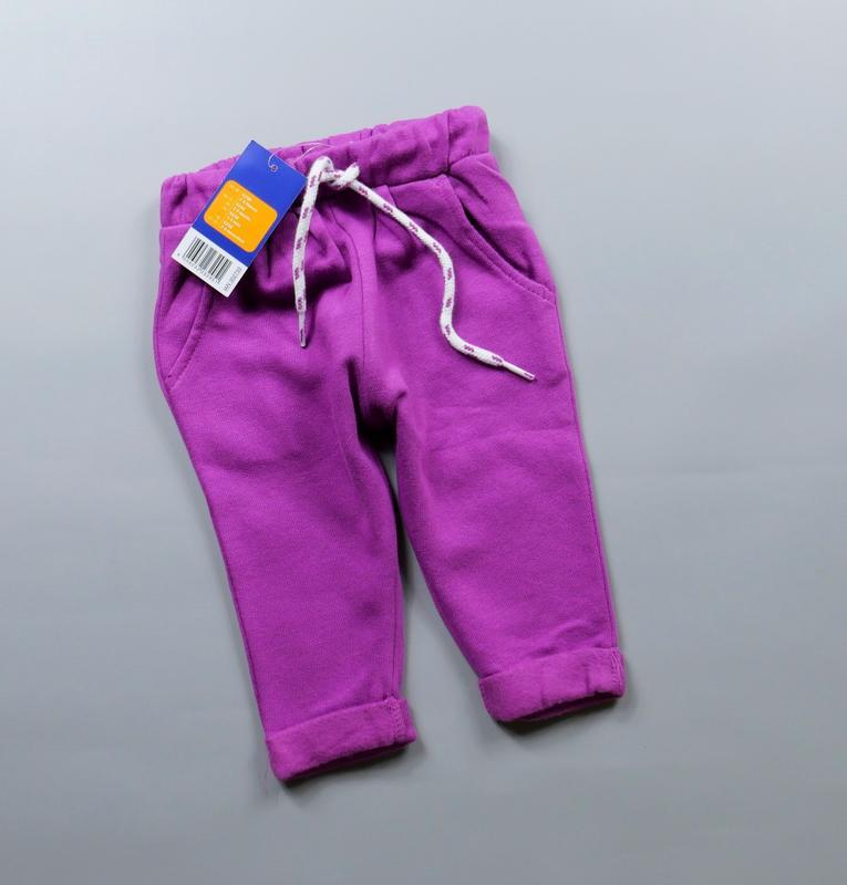Тёплые штанишки на 2-6 мес, рост 62-68 см