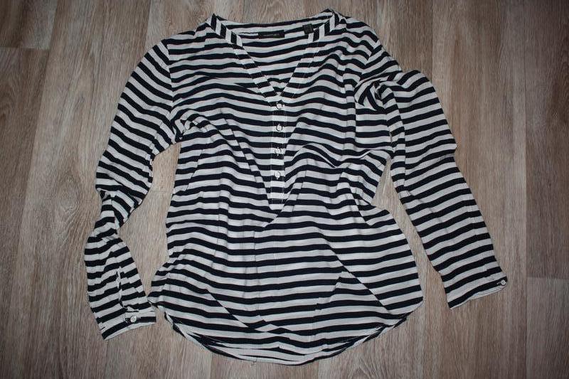 Легкая летняя блуза с морским полосатым принтом