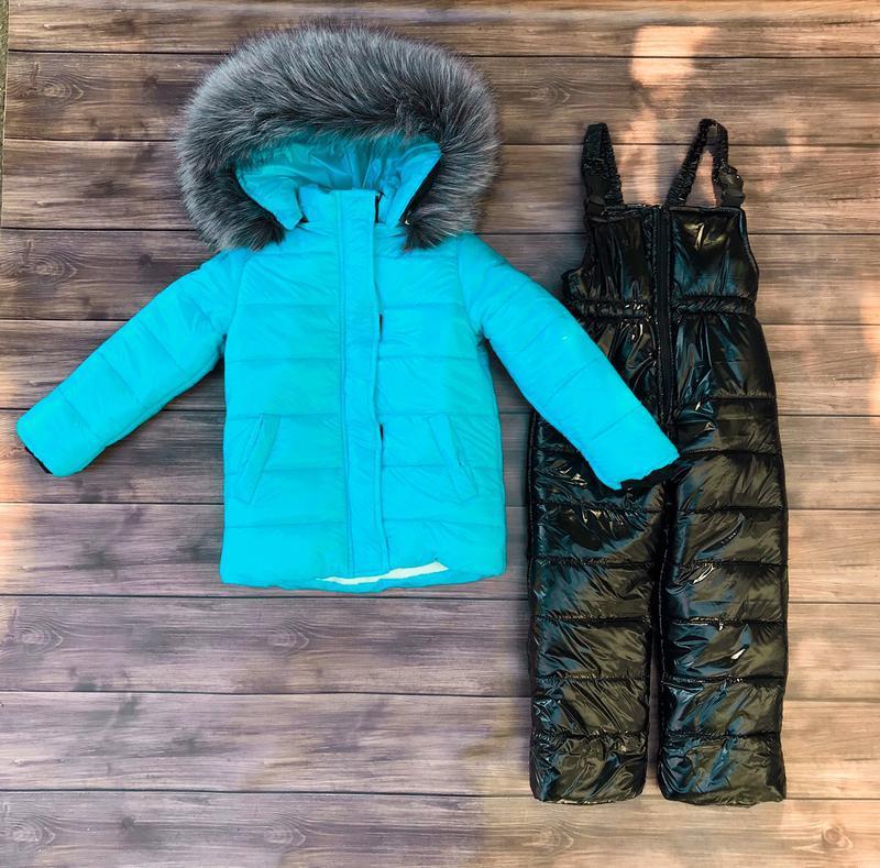 Шикарный зимний комбинезон монклер,  куртка и полукомбинезон