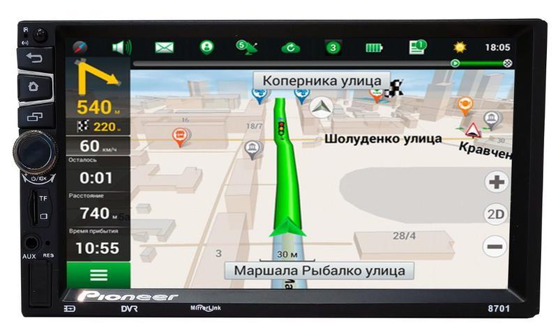 Автомагнитола Pioneer PI8701 2DIN, 7',GPS,Android,WIFI+ПУЛЬТ руль - Фото 3