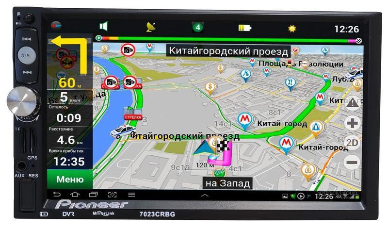 Автомагнитола Pioneer 7023 GPS, 2DIN,BT, SD,USB,AUX,Fm+ПУЛЬТ руль - Фото 2