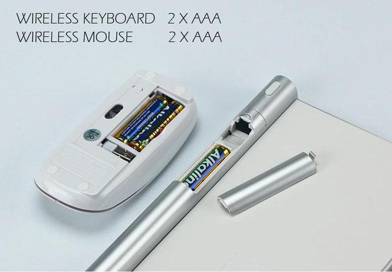 Беспроводная клавиатура Apple BT K06 + мышь - Фото 2