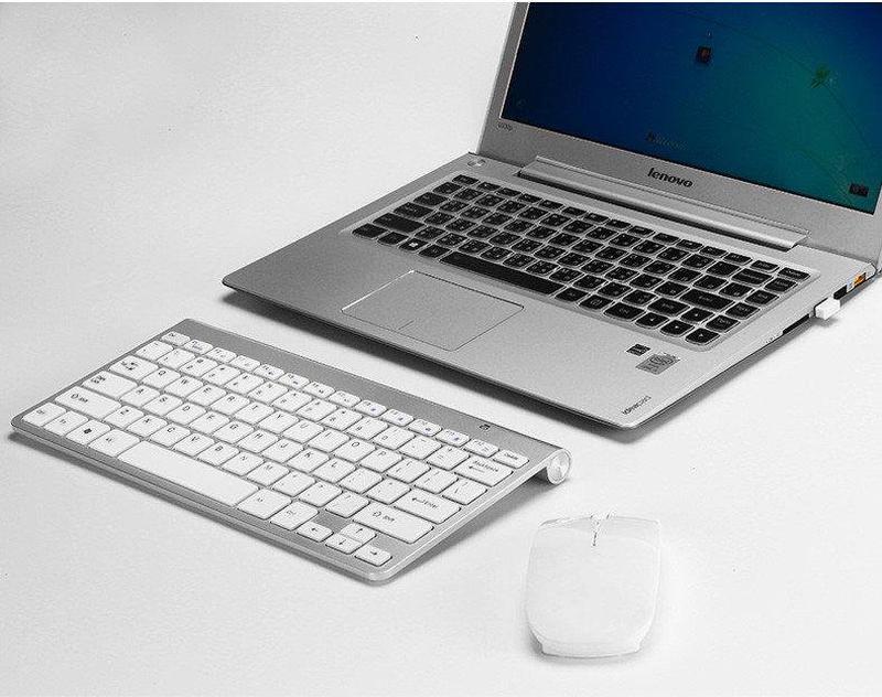 Беспроводная клавиатура Apple BT K06 + мышь - Фото 3