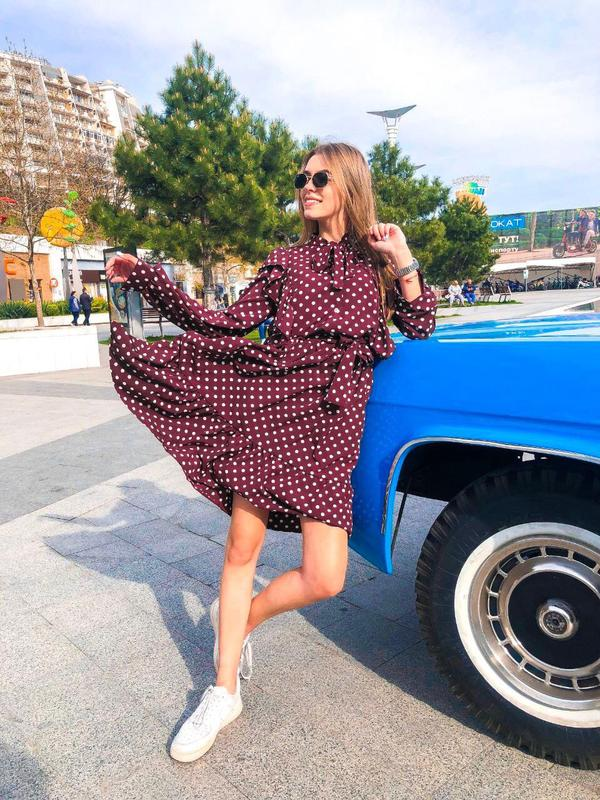 Платье с рюшами👗💄👛 - Фото 2