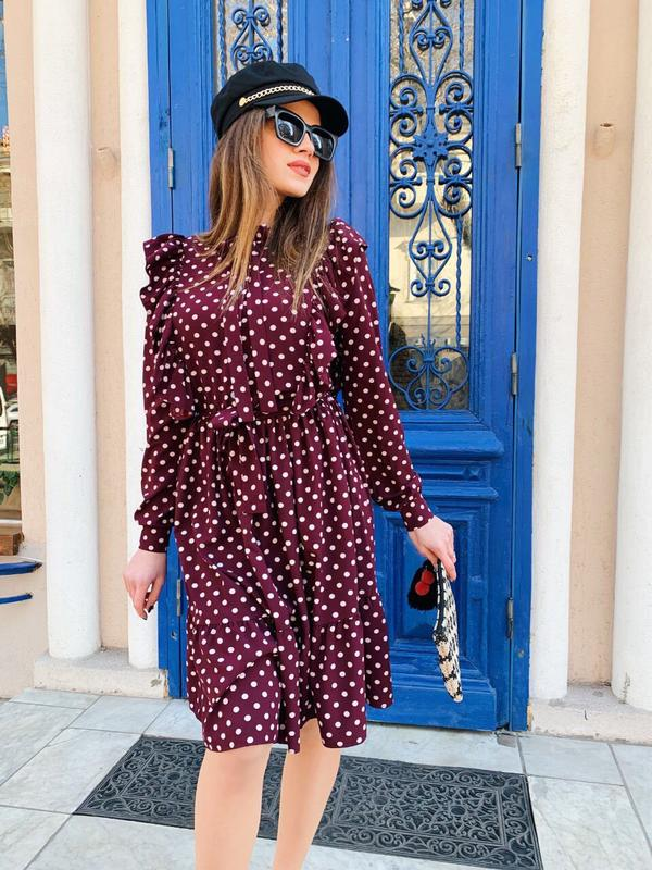 Платье с рюшами👗💄👛 - Фото 3