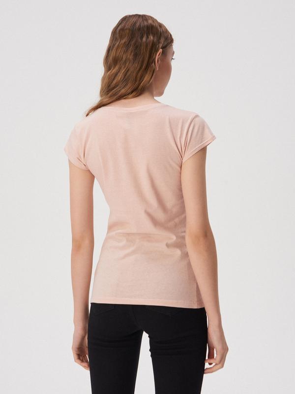 Новая розовая светлая пудра футболка sinsay папина дочка xs s - Фото 3