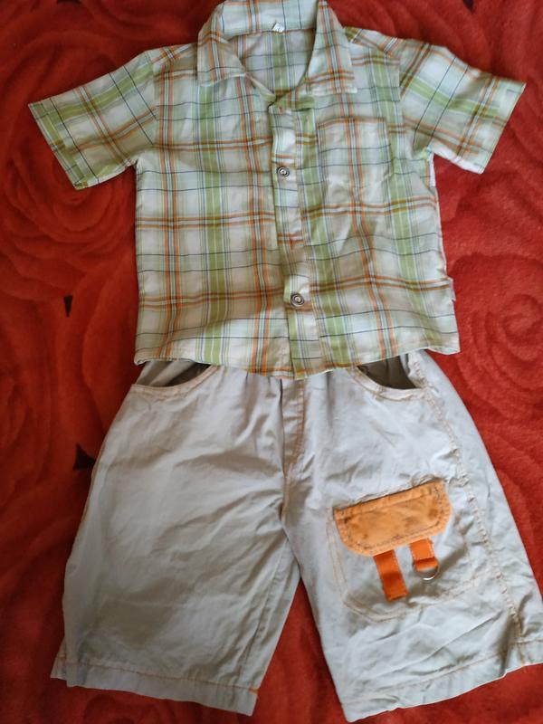 Костюм: стильные шорты и рубашка в клетку