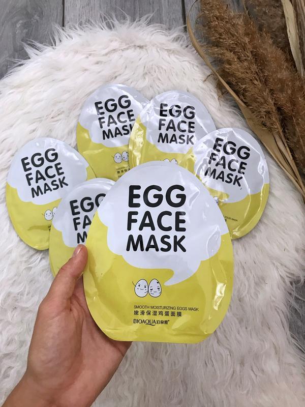 Тканевая маска с экстрактом яичного желтка bioaqua egg face ma...