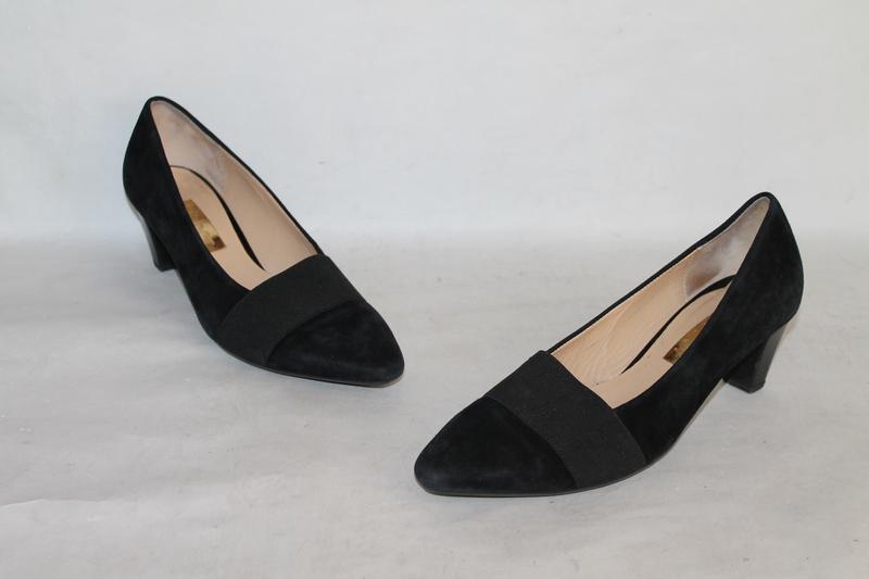 Комфортные замшевые туфли gabor 5/38 размер - Фото 2