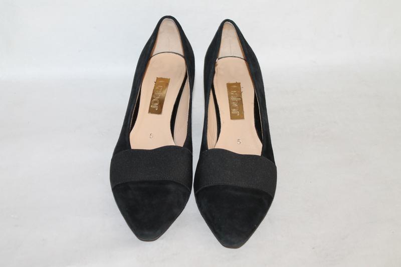 Комфортные замшевые туфли gabor 5/38 размер - Фото 3