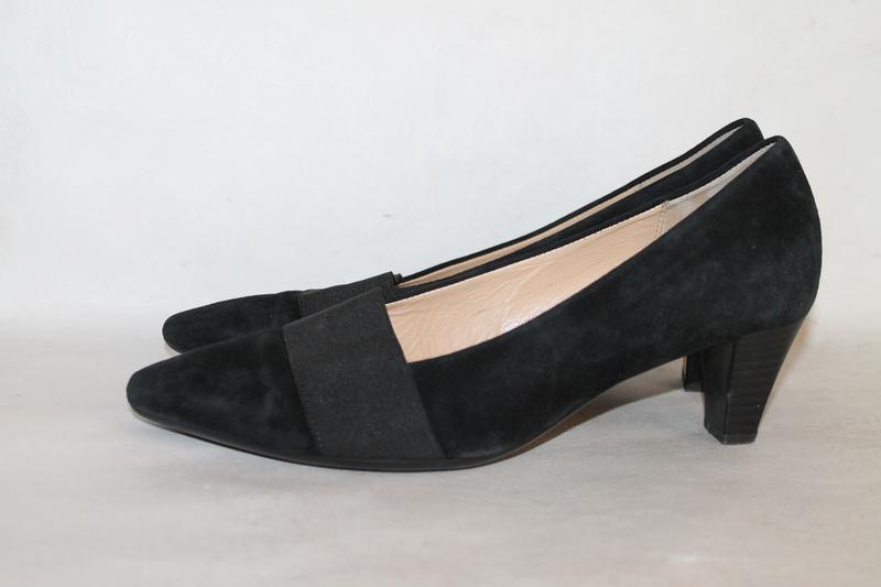 Комфортные замшевые туфли gabor 5/38 размер - Фото 4