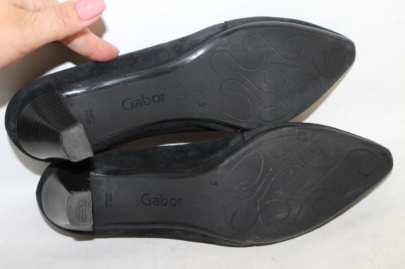 Комфортные замшевые туфли gabor 5/38 размер - Фото 6