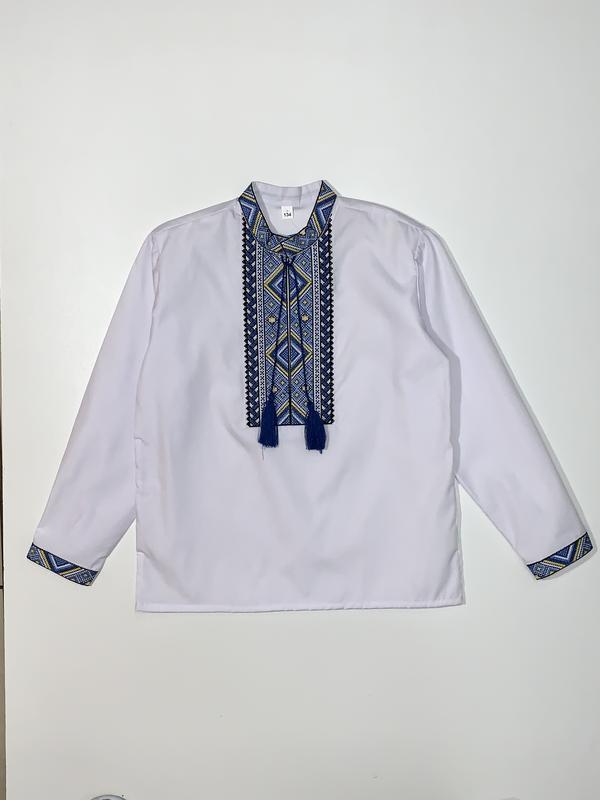 Рубашка-вышиванка для мальчика 6-9 лет.