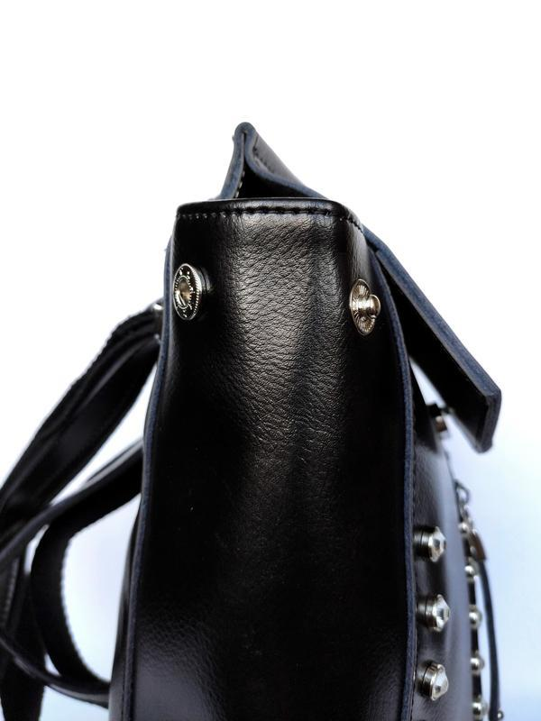 """Женский кожаный рюкзак """"steely crystal"""" черный - Фото 4"""