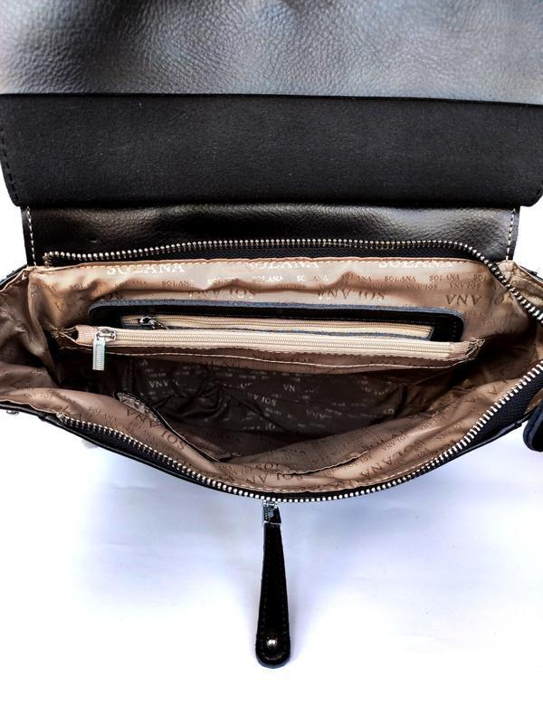 """Женский кожаный рюкзак """"steely crystal"""" черный - Фото 6"""