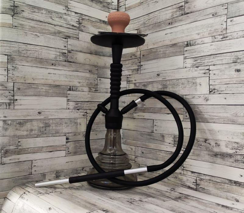 Кальян Amy infinity black высотой 50 см силиконовый шланг, нер...