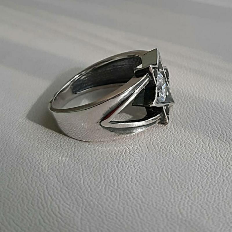 18.5 размер, кольцо серебро - Фото 4