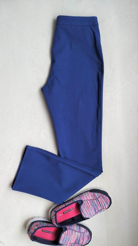 Синие брючки с высокой посадкой m&s, размер xl