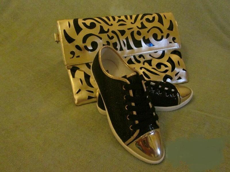 Блестящие черные лоферы, кеды, туфли - Фото 6