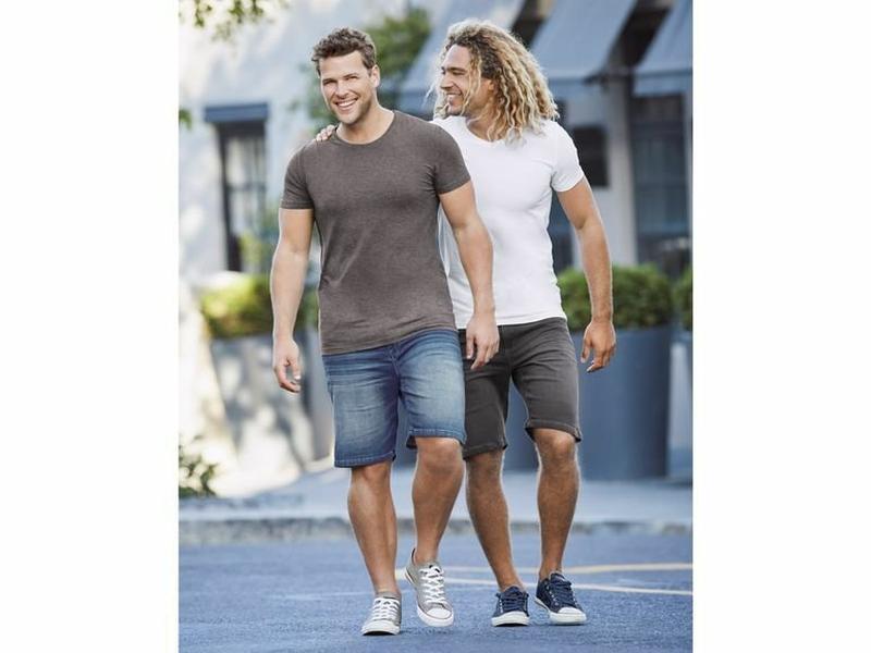 Мужские джинсовые шорты бермуды livergy германия - Фото 6