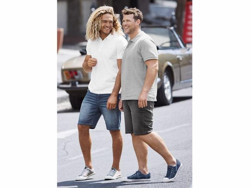 Мужские джинсовые шорты бермуды livergy германия - Фото 7