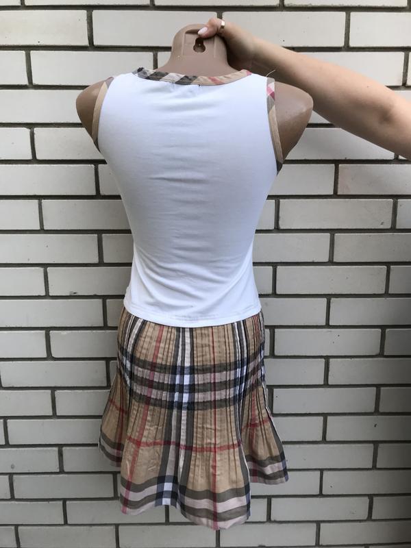 Платье,сарафан плиссе,хлопок,люкс бренд,оригинал, burberry - Фото 4
