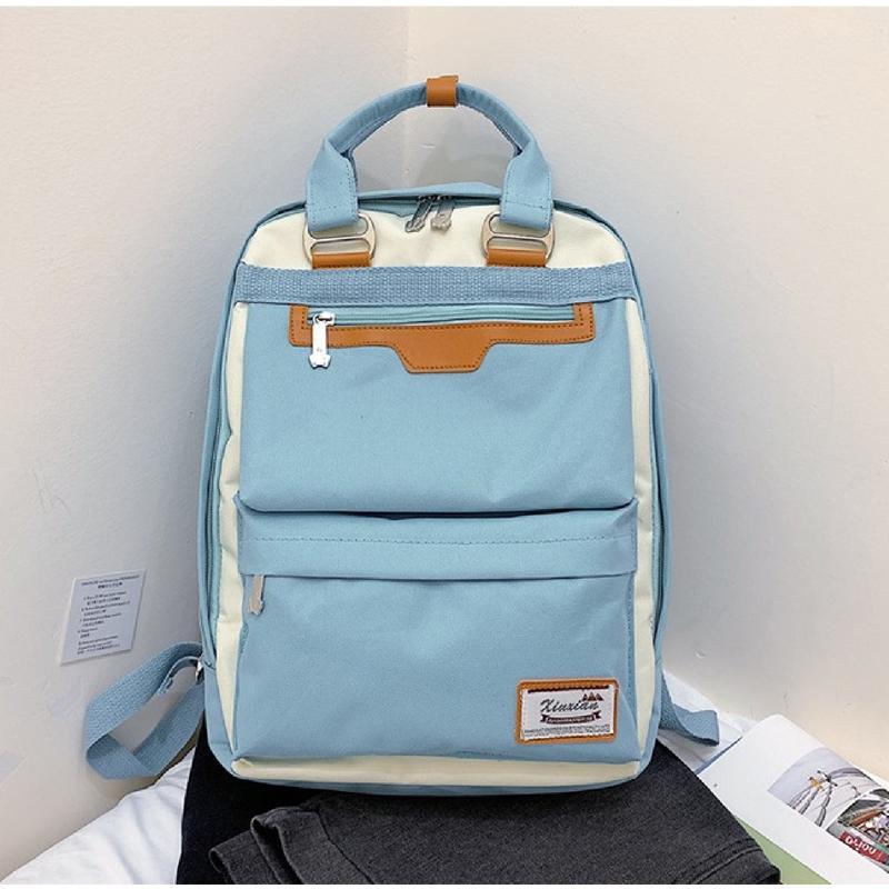 Рюкзак, городской рюкзак, голубой. люкс.